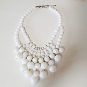 FRANCESCAS White bubble statement  necklace